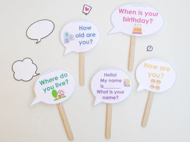 Interactive conversations! A game to practise English conversation
