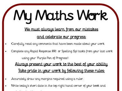 Primary School -Mastery Maths -Marking Policy