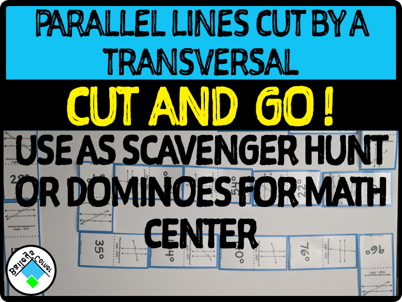Parallel Lines Cut by a Transversal Dominoes
