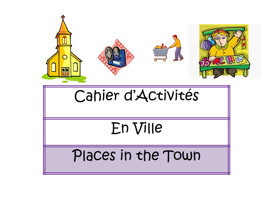 Places in the Town - French booklet