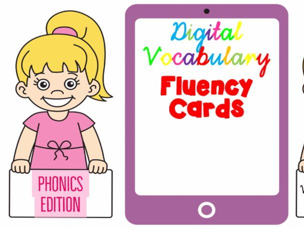 Digital Vocabulary Fluency Cards