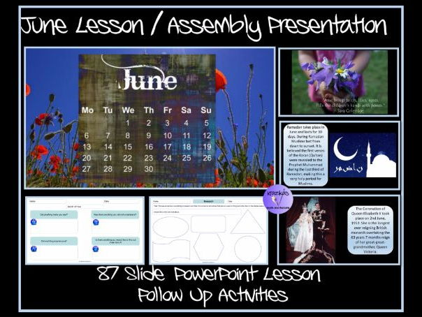 The Month of June - PowerPoint Lesson and Follow Up Activities