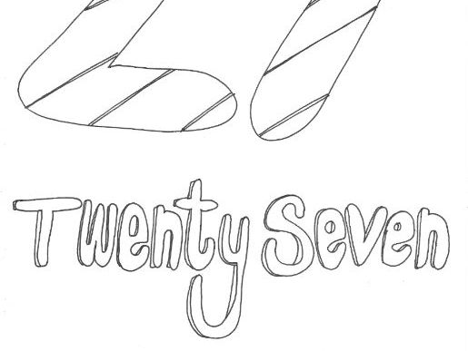 Twenty Seven: Numbers: Colouring Page