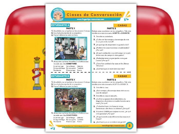 Casas - Spanish Speaking Activity