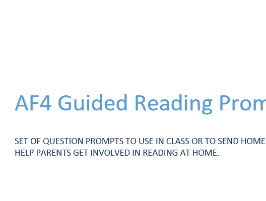 AF4 Guided Reading Prompt Fan