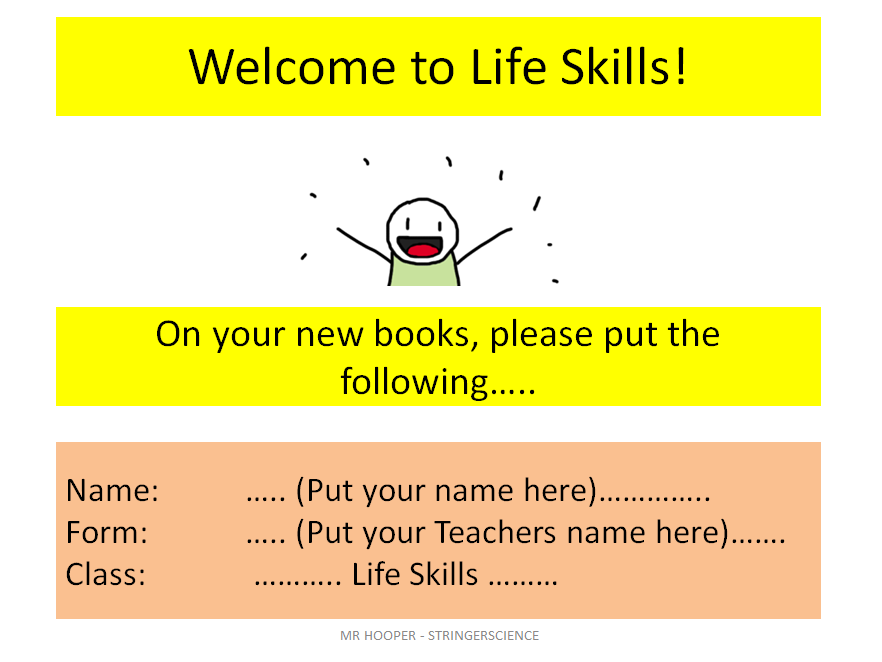 Life Skill Lesson 1 - Student Introduction