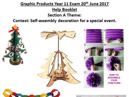 AQA Graphic Products 2017 Exam Theme Guide Section A: Self-assembly decoration for a special event
