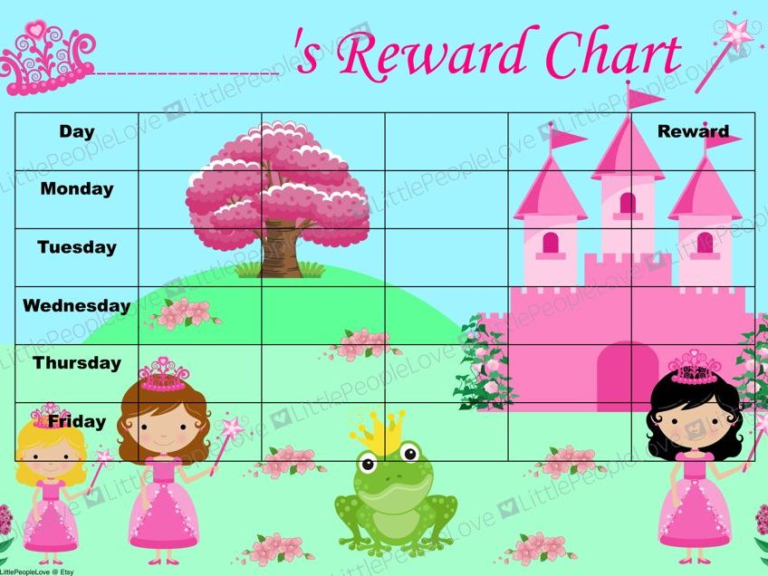 Reward Chart - Princess