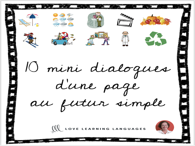 Futur Simple Mini Dialogues - Skits - Bundled French Resources
