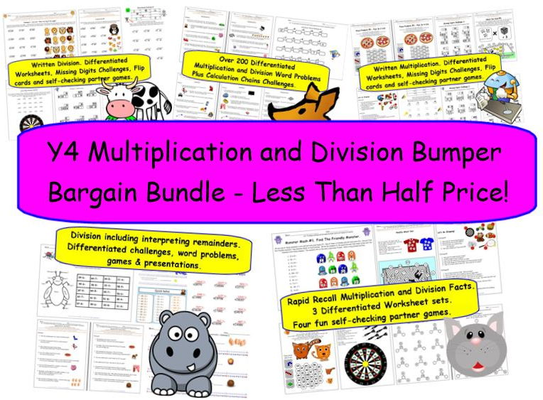 Y4 Multiplication and Division Bumper Bargain Bundle - Less Than Half Price!