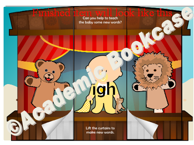 Puppet theatre word maker - Phase 3 'igh' words