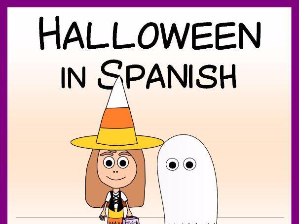 Halloween in Spanish - Vocab. sheets, wks, matching and bingo games