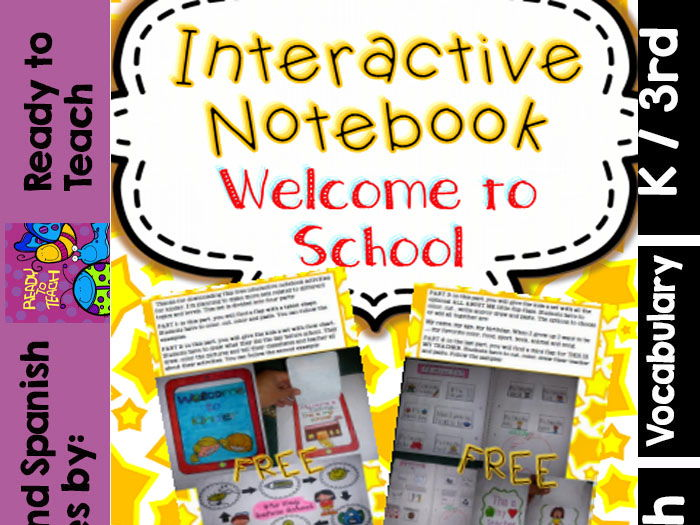 FREEBIE Interactive Notebook (Welcome to School)
