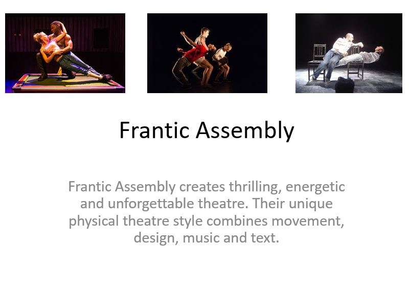 Frantic Assembly Starter Activities