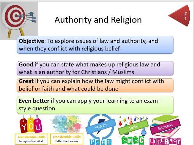AQA: Religion, Crime and Punishment: Authority and Religion - Whole Lesson