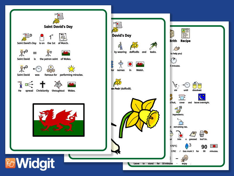 St David's Day - with Widgit Symbols