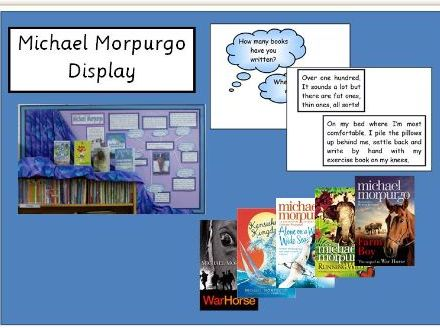 Michael Morpurgo Reading Display