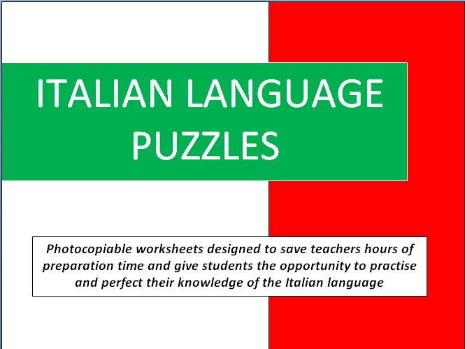Italian Language Puzzles