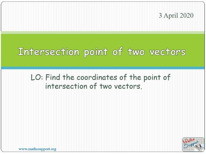 Intersecting vectors
