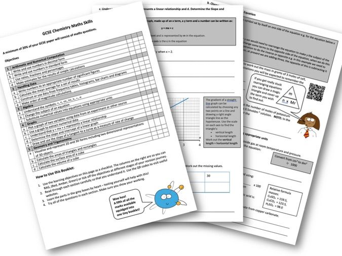Maths Skills for GCSE Chemistry Revision Booklet