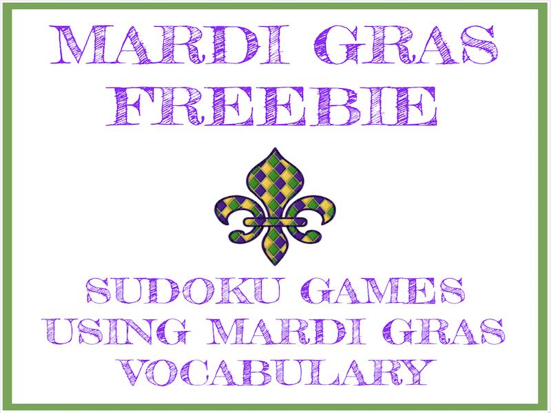 Free Mardi Gras Sudoku Games in English