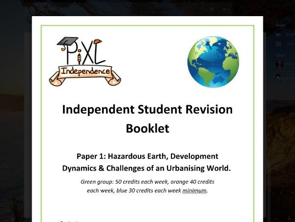 GCSE Geography  Independent Student Revision  Booklet THE WHOLE OF PAPER 1 GREAT PRICE