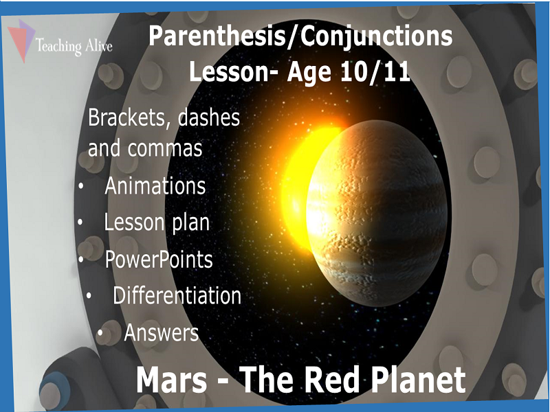 Age 10/11 Parenthesis/Conjunctions Lesson- Animations & PowerPoints