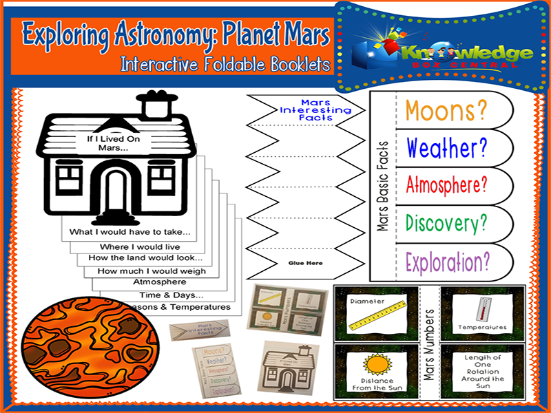 Exploring Astronomy: Planet Mars Interactive Foldable Booklets