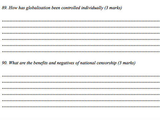 Human Geography Globalisation Booklet