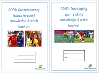 R051 & R052 OCR National Sports Studies knowledge booklets