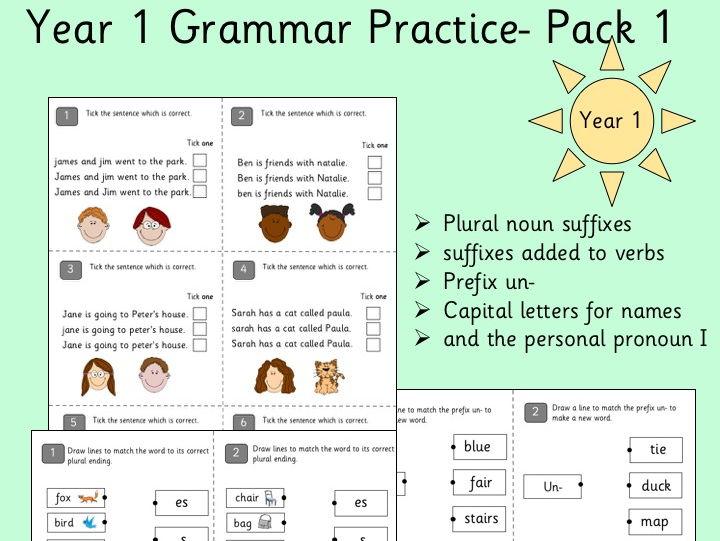 Grammar Practice Questions- Year 1