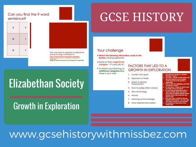 GCSE HISTORY: Elizabeth I: Growth in Exploration (all exam boards)