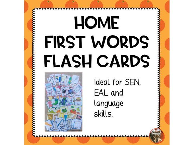 First Words Home Noun Flash Cards