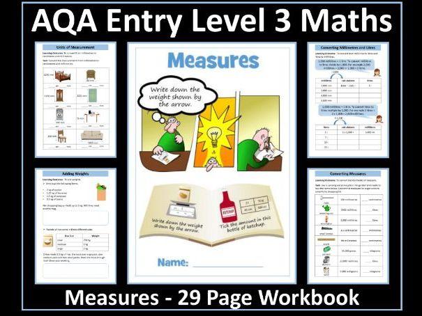 Measure - AQA Entry Level 3 Maths Workbook