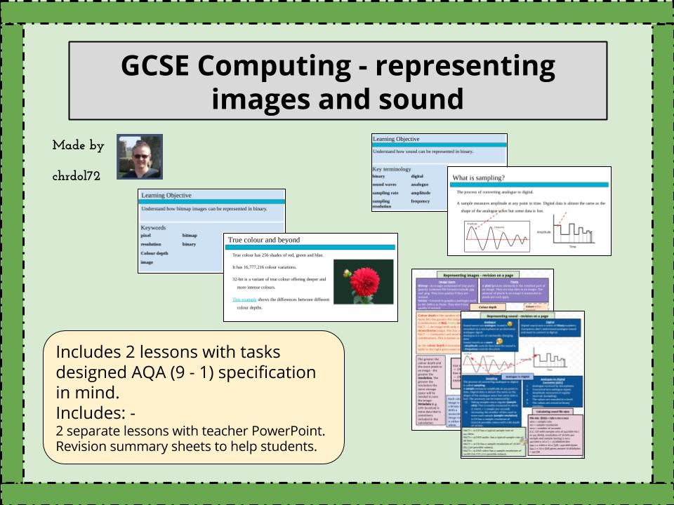GCSE Computing: Representing images & sound