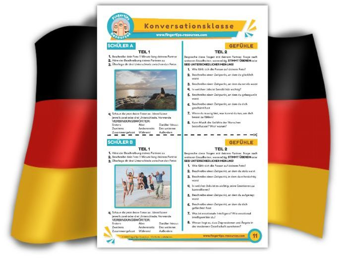 Gefühle - German Speaking Activity