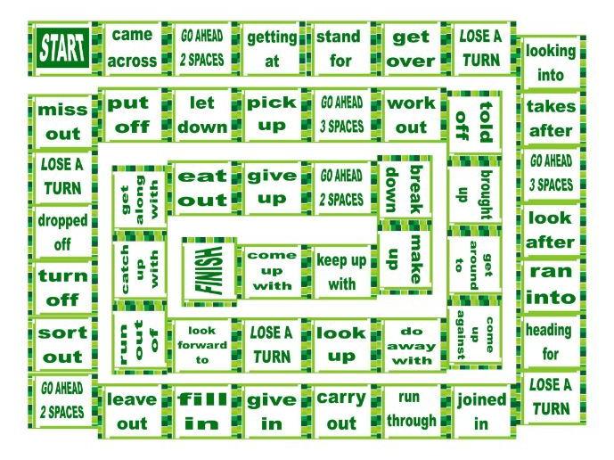 Phrasal Verbs Board Game 1
