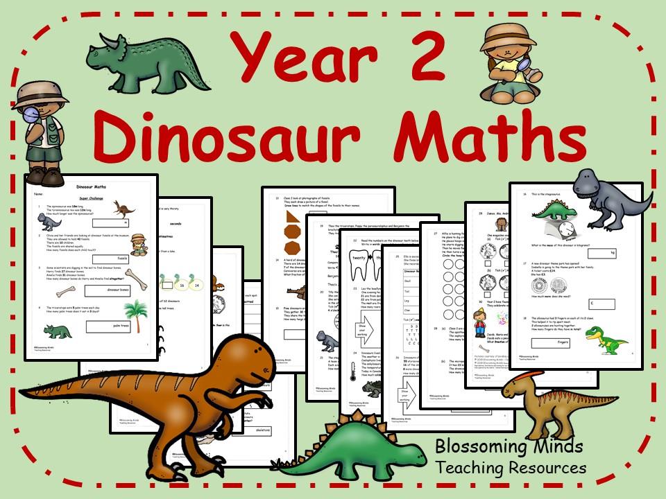 Year 2 Dinosaur Maths - All Topics