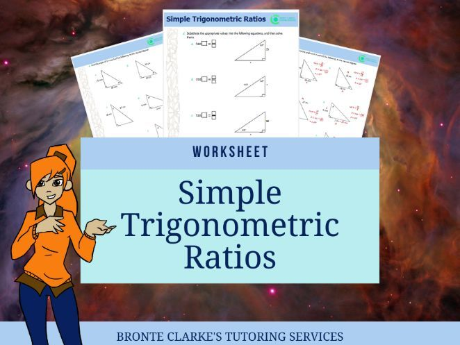 Simple Trigonometric Ratios Worksheet (with Answers)