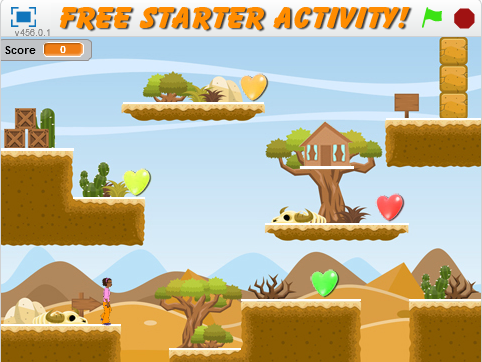 Scratch Starter – Platform Game Activity