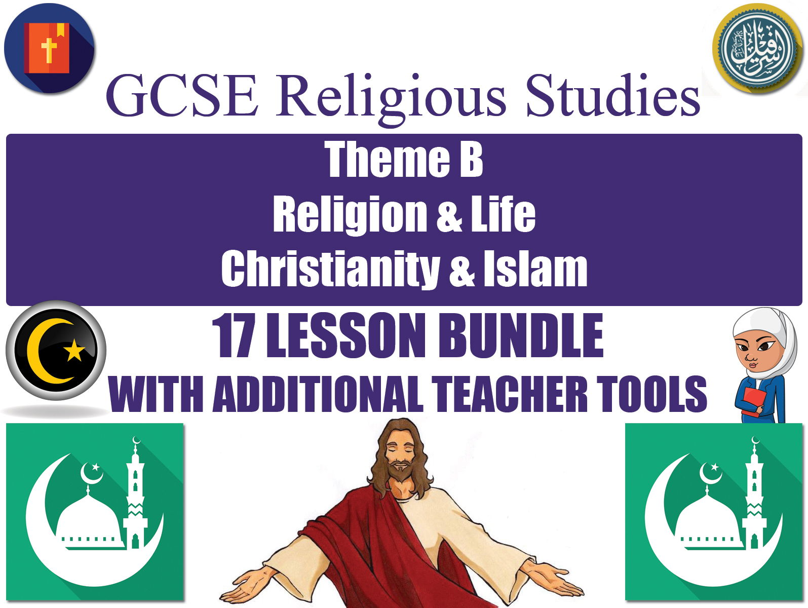 GCSE Islam & Christianity - Religion & Life (17 Lessons)