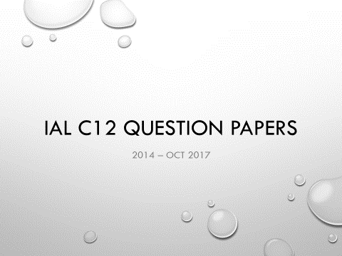 IAL C12 Math Question Papers (2014-Jan 2018) - without writing space