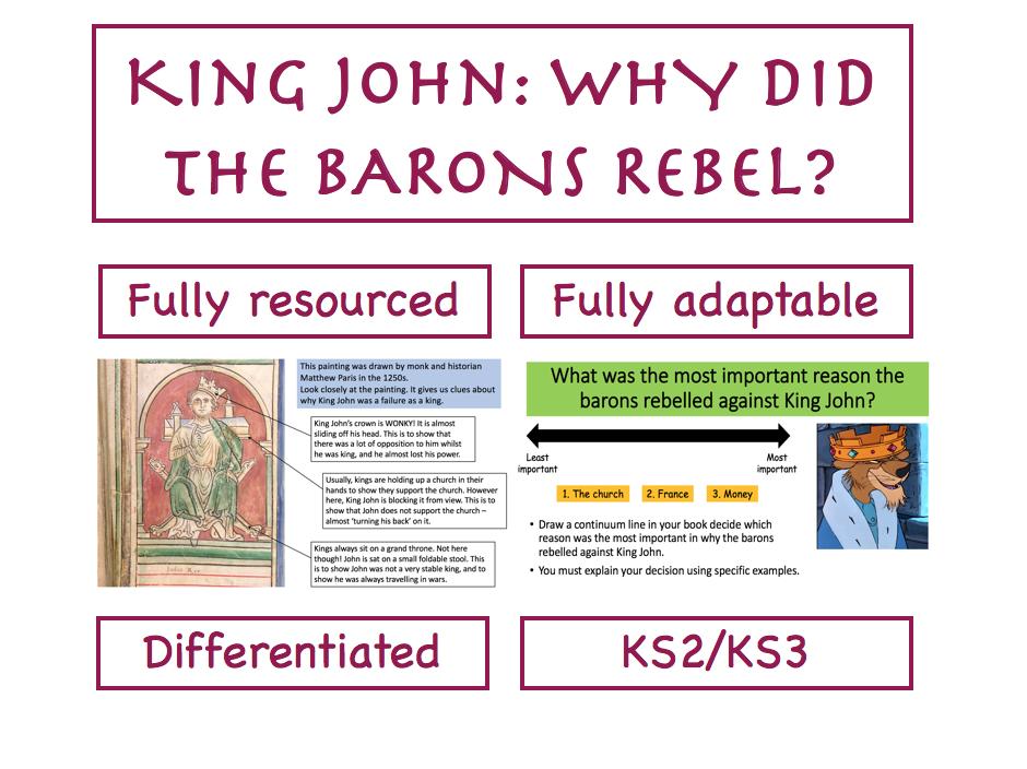 Why did barons rebel against King John?