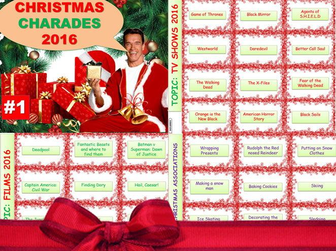 Christmas Charades.Christmas 2016 Charades