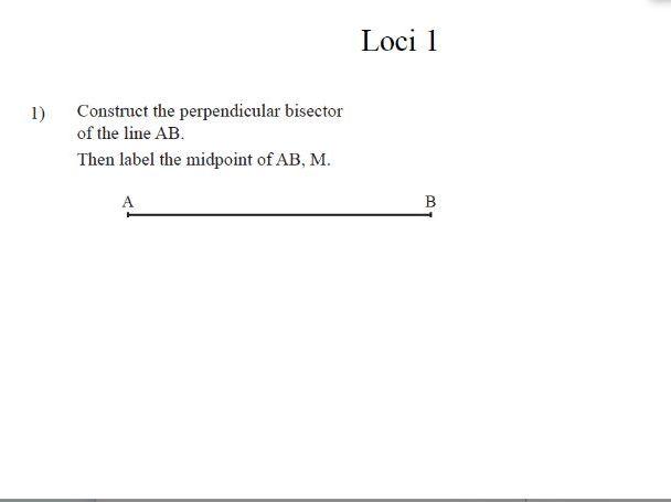 GCSE Maths Loci Revision