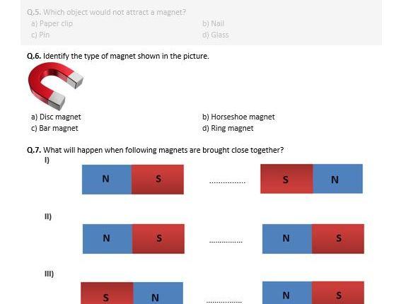 Distance Learning | Magnetism - Worksheet