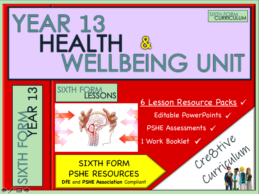 KS5 PSHE Lessons Emotional Health & Wellbeing Unit