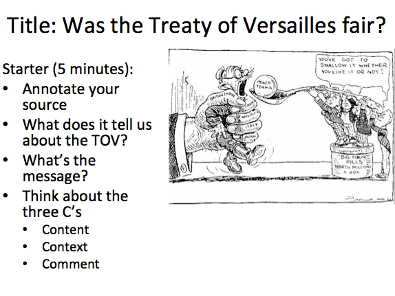 reviewing the fairness of the treaty of versailles