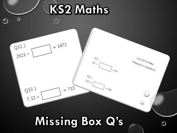 KS2 Maths SATS - Missing Box Questions