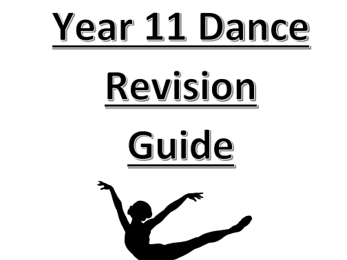 AQA GCSE Dance Revision Task Booklet